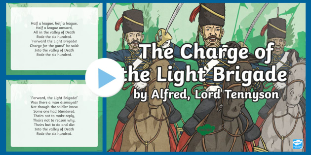 The Charge Of The Light Brigade Powerpoint Classic Poetry
