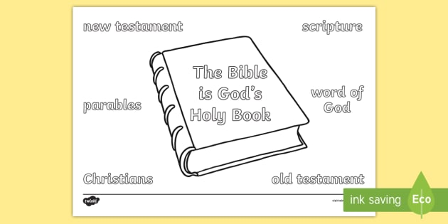 The Bible Vocabulary Coloring Page (teacher Made)