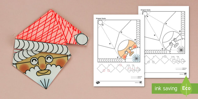 Simple Origami Christmas Santa Paper Craft