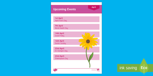 Calendar Planning April 2017 Adult Guidance - Calendar Planning April 2017, Activity Coordinators, Support, Planning, Eldely Care, Care Homes, Ove