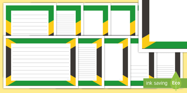 FREE! - Jamaican Flag Page Borders - jamaica, countries