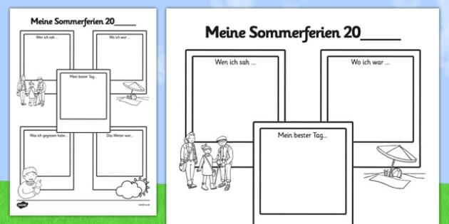 Meine Sommerferien 20 Summer Holiday Snapshots SEN Version German - german, summer holiday, snapshots, sen