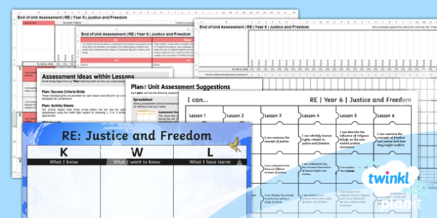RE: Justice and Freedom Year 6 Unit Assessment Pack