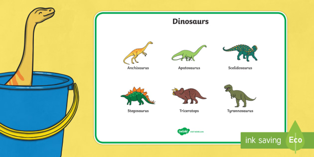 Word Mat to Support Teaching on Harry and the Bucketful of Dinosaurs - dinosaur, wordmat