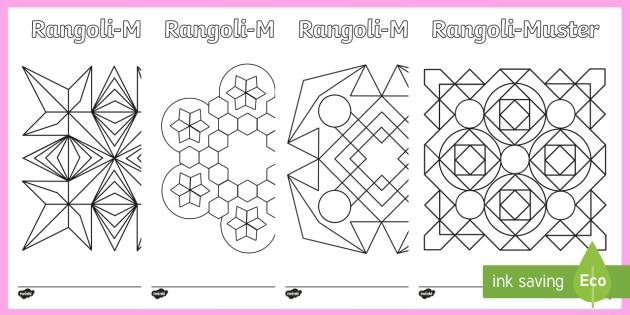 Rangoli Muster Ausmalbilder Teacher Made