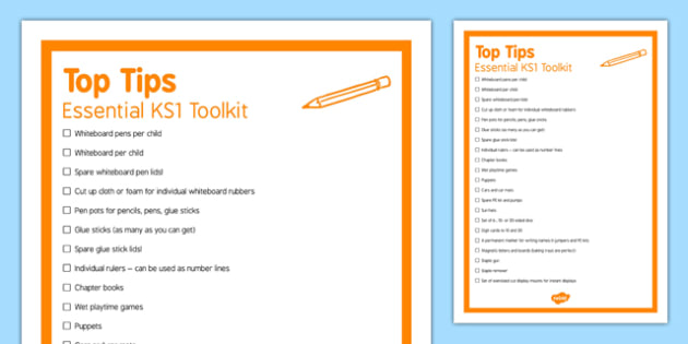 Essential KS1 Toolkit Top Tips