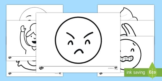 Emojis Colouring Pages Moji Teacher Made