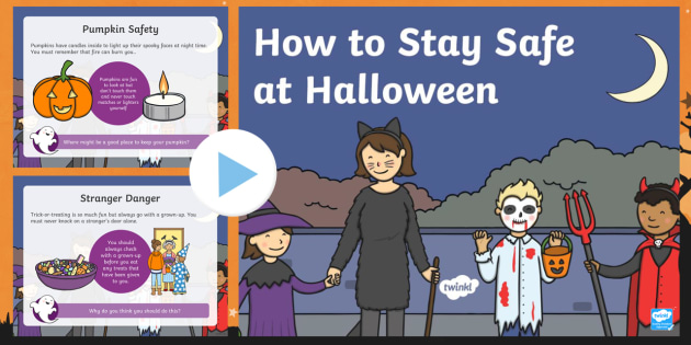 new how to stay safe at halloween powerpoint halloween
