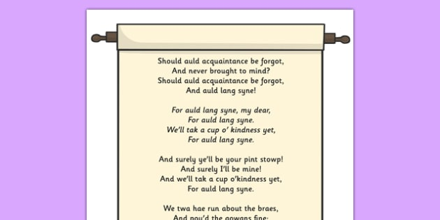 picture about Auld Lang Syne Lyrics Printable identified as Totally free! - Auld Lang Syne Present Poster - present, posters