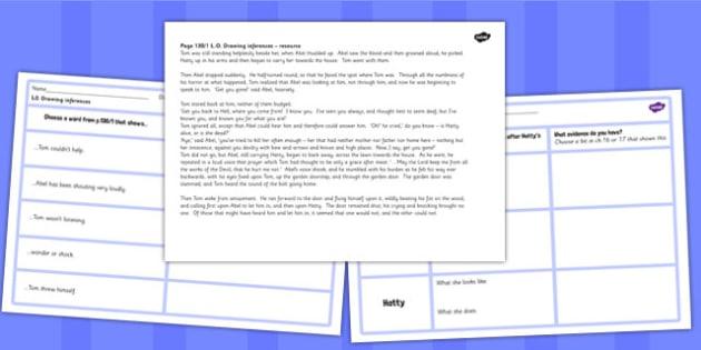 Tom's Midnight Garden Inference Activity Sheets - worksheets, garden