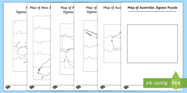 Australia Map Jigsaw.Maps Of Australia And Surrounding Countries Jigsaw Puzzle