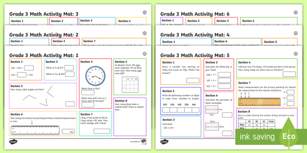 Math Activities For Grade 3 6 Differentiated Activity Mats
