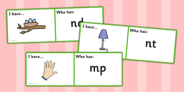 Blends and Clusters Loop Cards - blends, clusters, loop cards, cards, loop, activity