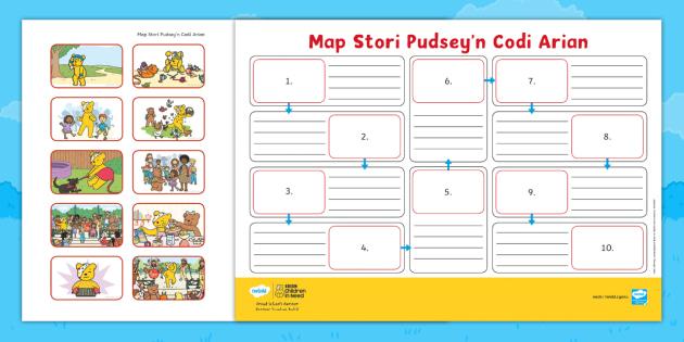 BBC Plant Mewn Angen Map Stori Pudsey'n Codi Arian