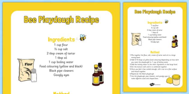 Bee Playdough Recipe -yellow, black, bee, wasp, pipe cleaner, googly eyes