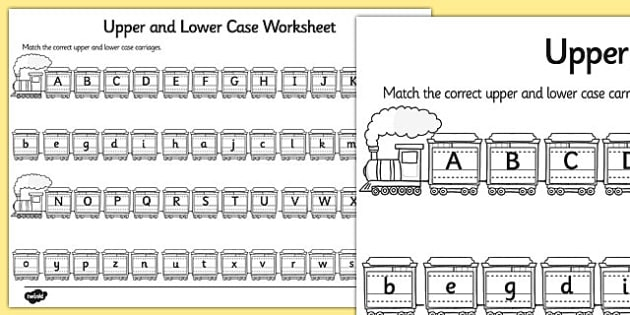 picture regarding Upper and Lowercase Letters Printable titled Totally free! - Higher Scenario and Decreased Scenario Matching Worksheet