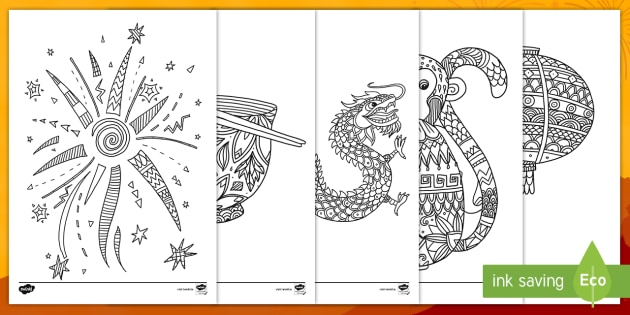 Chinese New Year Coloring Pages • FREE Printable PDF from PrimaryGames | 315x630