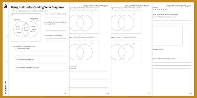 Using And Understanding Venn Diagrams Ks3 Maths Beyond