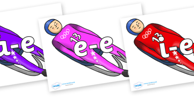 Modifying E Letters on Luge - Modifying E, letters, modify, Phase 5, Phase five, alternative spellings for phonemes, DfES letters and Sounds