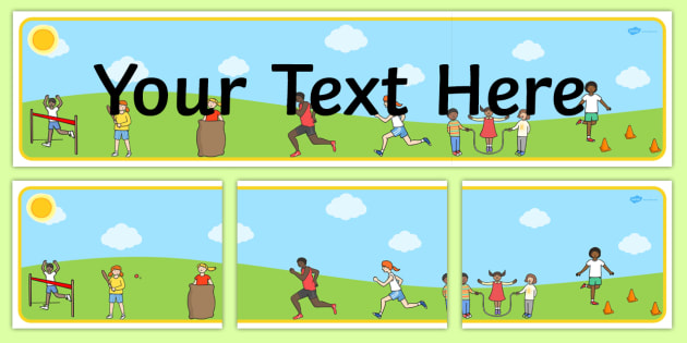 Sports Day Themed Editable Banner for Publisher - sport, pe