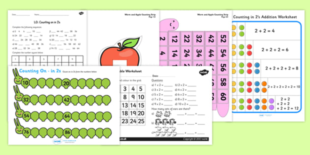 Counting in 2s Resource Pack - counting, resource, pack, count, 2