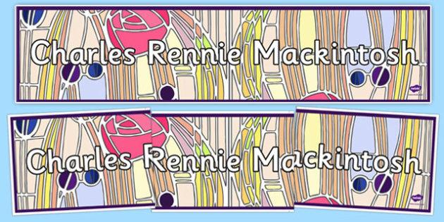 Charles Rennie Mackintosh Display Banner - cfe, charles rennie mackintosh, display, banner