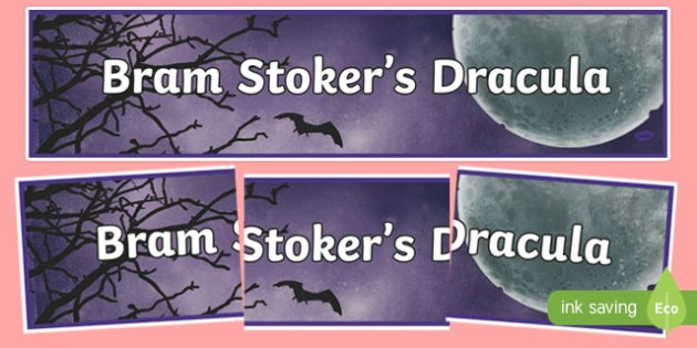 Bram Stoker's Dracula Display Banner-Irish