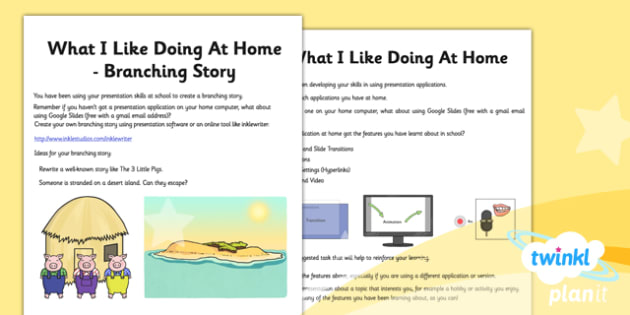 Computing: PowerPoint Presentation Skills Year 3 Unit Home Learning Tasks