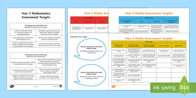 Curriculum for Wales Year 5 Mathematics Assessment Display Pack - Back to school resources, Maths, Assessment, Year 5, Display Pack, Maths Targets, Curriculum for Wal