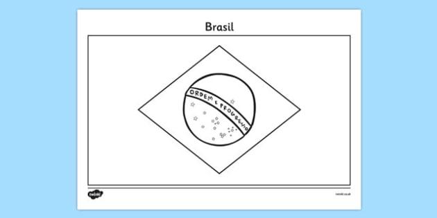 Lliwio Fflag 'Brasil' - welsh, cymraeg, brasil, olympaidd, gemau, rio, lliwio, fflag, brasil