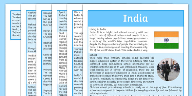 India Information Sheet - india, scottish, scotland, curriculum, excellence, cfe, indian, gerography, compare, social, studies, comparison
