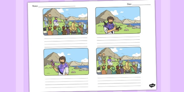 The Flowers of the Field Storyboard Template - parable, flower