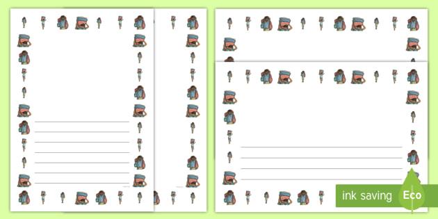 Refugee Boy Portrait Page Borders- Portrait Page Borders - Page border, border, writing template, writing aid, writing frame, a4 border, template, templates, landscape