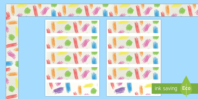 Crayon Markings Display Borders - classroom, class, color, colour, pencil, rainbow, art, scribble,