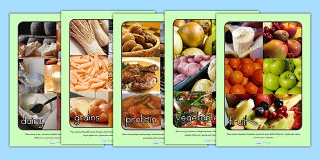 Food Groups Display Photos - food groups, food display, display