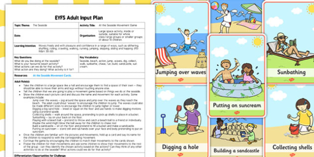 At the Seaside Movement Game EYFS Adult Input Plan Resource Pack