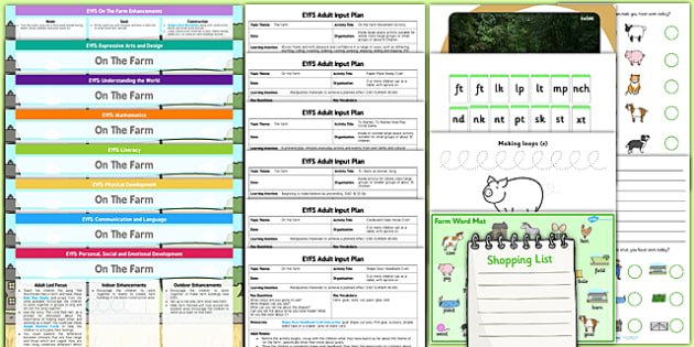 EYFS Farm Themed Lesson Plan Enhancement Ideas and Resources Pack - planning