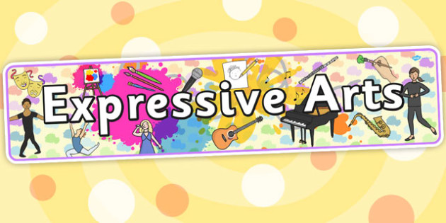 expressive arts banner display curriculum excellence twinkl sign resource save must join