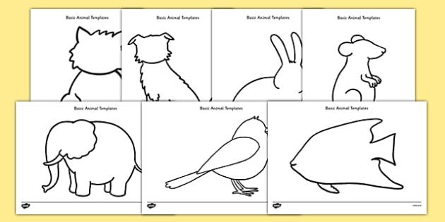 Basic Animals Template Resource Pack - basic, template, resource, pack, animals