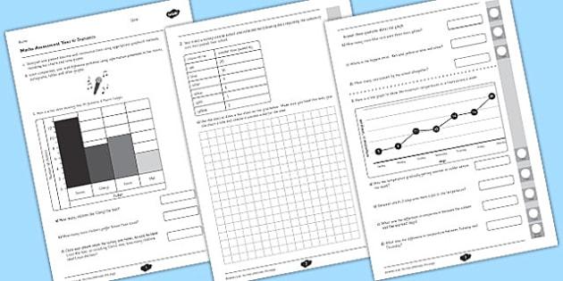 Year 4 Maths Assessment Statistics Term 1 - assessments, assess, math, Autumn Term Maths Assessment