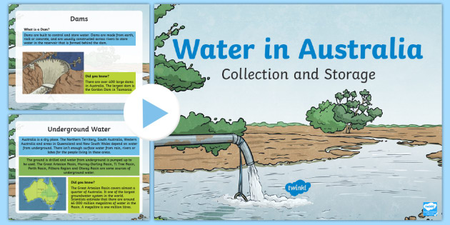 Water Storage and Collection in Australia PowerPoint-Australia - Water in Australia,Australia