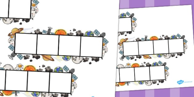 Space Phoneme Frames - Phoneme Frames printable, space, rocket, phoneme frame, phoneme, phonemes, Segmenting, DfES Letters and Sounds, Letters and sounds, KS1 Literacy, Phase one, Phase 1, Phase two, Phase 2, Phase three, Phase 3