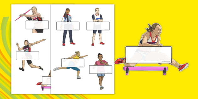 The Olympics Athletics Self-Registration - Olympics, Olympic Games, sports, Olympic, London, 2012, Self registration, register, editable, labels, registration, child name label, printable labels, Olympic torch, flag, countries, medal, Olympic Rings,