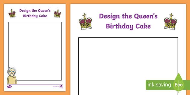 Stupendous Queens Birthday Cake Worksheet Design Your Own Year 1 6 Funny Birthday Cards Online Inifodamsfinfo