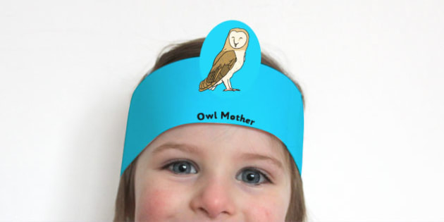 Owl Role Play Headbands - owl, role-play, headbands, roleplay