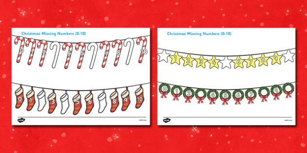Christmas Missing Numbers (0-10) Activity - christmas, numeracy