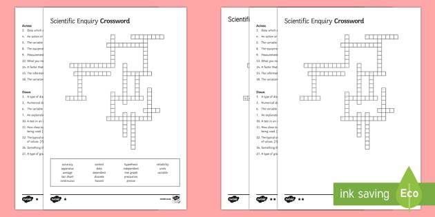 KS3 Scientific Enquiry Crossword