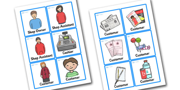 Newsagents Role Play Badges - newsagents, role play, badges, newsagents role play, newsagents badges, role play badges, badges for newsagents