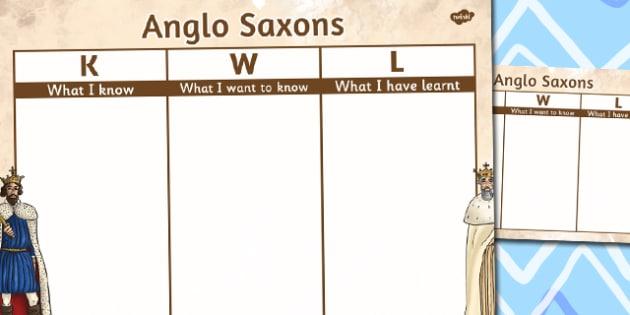 Anglo Saxons Topic KWL Grid - anglo-saxons, topic, kwl, grid