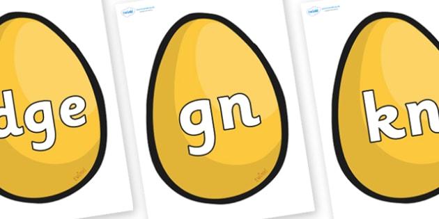 Silent Letters on Golden Egg - Silent Letters, silent letter, letter blend, consonant, consonants, digraph, trigraph, A-Z letters, literacy, alphabet, letters, alternative sounds